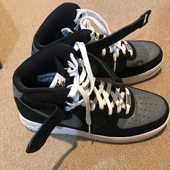 buy online 176cc 6996f Air Jordan Other - Nike Air - Air Force 1 Black and grey size 9 1